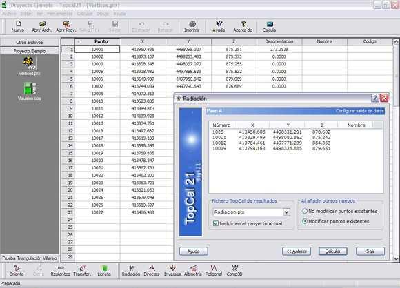 Cálculos topogáficos TopCal21
